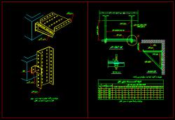 دانلود نقشه اتوکد دیتایل نصب سینی کابل تاسیسات برقی